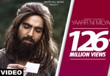 yaar ni milyaa lyrics harrdy sandhu